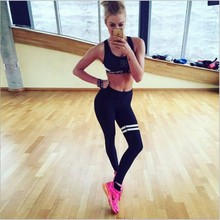 Womens Sporting Leggings Black Print Workout Women Fitness Legging Pants Slim Jeggings Wicking Force Exercise Clothes 2001