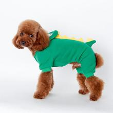 Cartoon Dragon Style Cotton Warm Winter Dog Clothes Jumpsuit Hoodie Pet Dog Coat Clothing Small Dogs Teddy Fashion Puppy Outfit