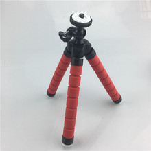 Mini Portable Flexible Sponge Octopus Tripod Bracket Stand Mount Monopod For Gopro Camera DSLR Mount