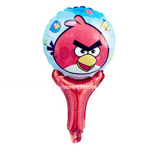 25pcs/lot Bird hand stick Foil Balloons Globos Birthday Party Supplies Kids Toys Angryed Helium Balloons