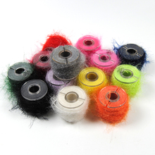 10m/spool Fly Tying Body Material Sparkle Fiber Line Saltwater Streamer Nymph Scud Tying