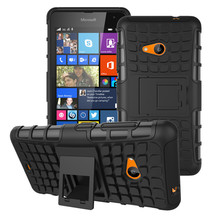 For Nokia Lumia 535 Case 1090 1089 Heavy Duty Armor Shockproof Hybrid Hard Silicone Rugged Rubber Phone Cover For Nokia 535(China)