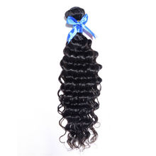 Grade 6A Indian Virgin Hair Deep Wave 1Piece Unprocessed Human Hair Extensions Indian Curly Virgin Hair Soft Indian Deep Wave