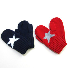 Winter Warm Baby Gloves Children Knitted Mittens Kids Girls Gloves Stars Full Finger Glove Boys Gloves New Year Gifts(China)