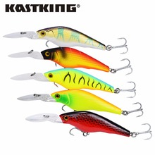 KastKing 90mm 7g/pc Minnow Grank Bait  Fishing Hard Lures Fishing Equipment Bait Casting Lure