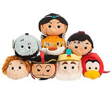 Tsum Tsum Mini Plush Aladdin Princess Jasmine Genie Lago Parrot Abu Monkey Rajah Tiger Sultan Cute Smartphone Screen Cleaner