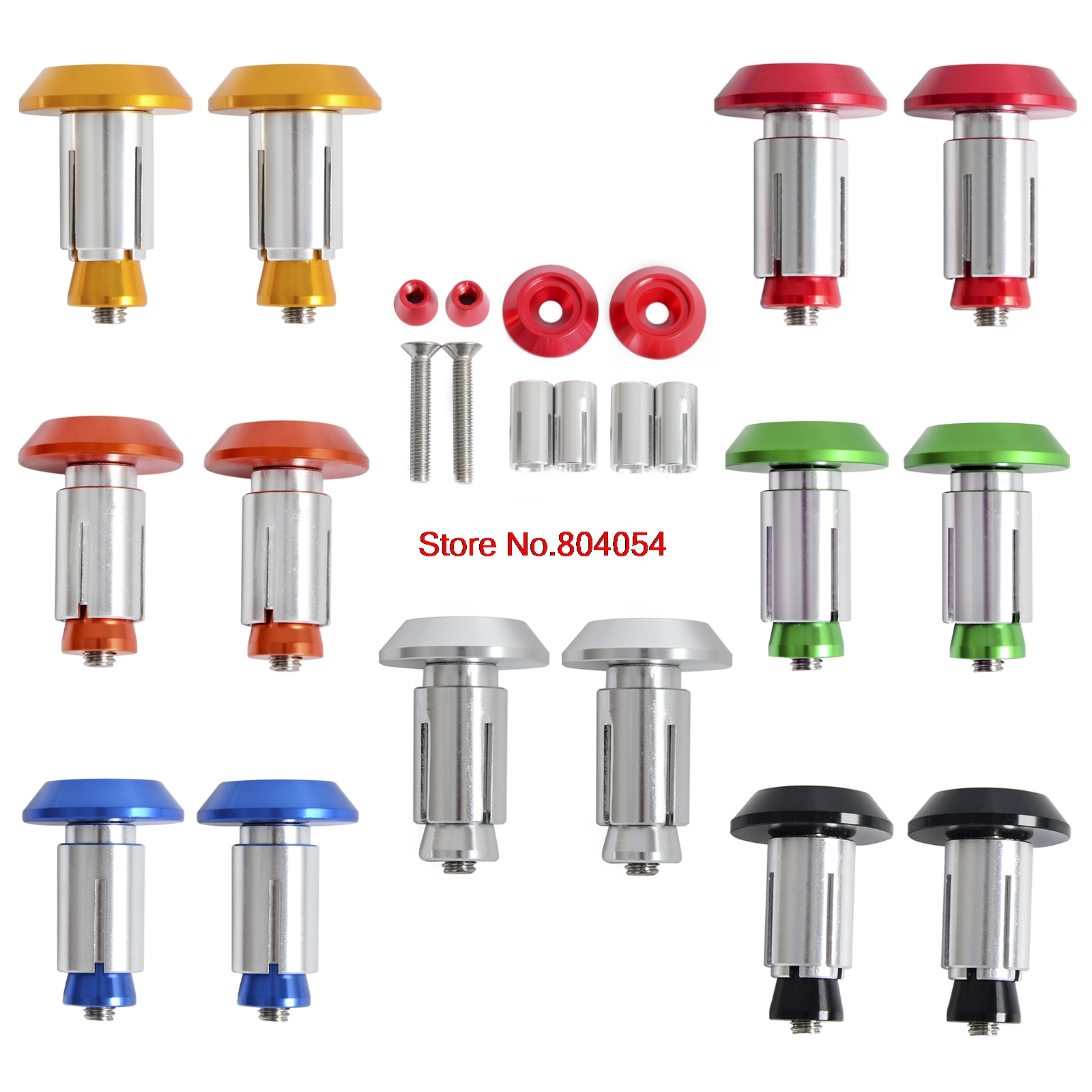 CNC Billet Handlebar Cap Plugs for Husaberg 125-570cc 2009-2014 Also Fit Husqvarna 125-501cc 2014-2016<br><br>Aliexpress