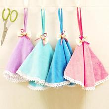 Plush Fabric Kitchen Tea Towels Dish Drying Towels Washcloths Face Hand Towels - Assorted Colors L50