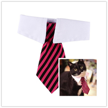 Striped Pet Tie High Quality Polyester + Cotton Gentleman Style Dog Cat Necktie  Boutique Pet Accesories