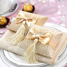 Free shipping 100pcs/lot candy box tassels christmas box wedding gift box(China)