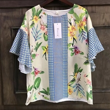 2017 Fashion Women Parrot Positioning printing Short sleeve T-shirt Summer style Casual Loose O-Neck Tops Femme Tee Shirt T727(China)