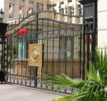 new design wrought iron gates wrought iron gate for home villas(China)