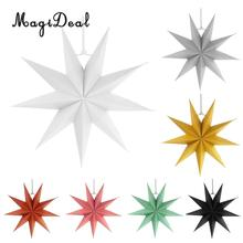 Novelty 3D Paper 9 Point Star Christmas Halloween Party Centerpieces Hanging Decoration(China)