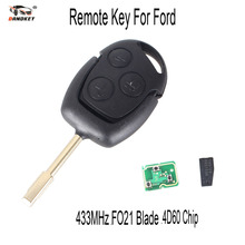 DANDKEY Remote Key 3 Buttons 433MHz with 4D60 Chip for FORD Focus Fiesta Mondeo C MAX Fusion Transit KA Keyless Entry Fob(China)