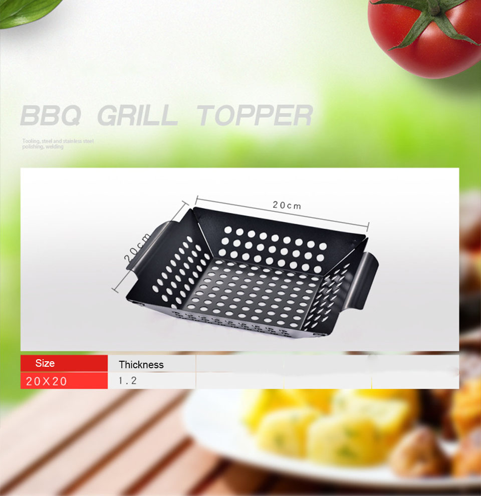 Non-stick Square Grill Pan Outdoor Stainless Steel Barbecue Grill Plate
