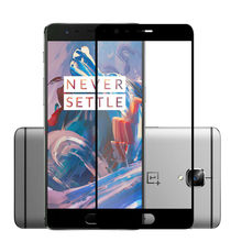 Full Cover Tempered Glass for OnePlus 3 Screen Protector One Plus 3T 9H 2.5D 0.33mm Silk Print Protective Glass Film