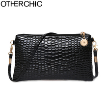 New Stylish Patent Leather Women Messenger Bags Women Handbags Crocodile Shoulder Bags For Woman Clutch Crossbody Bag 6N07-06
