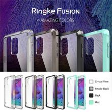 100% Original Ringke Fusion Case For Galaxy Note 4 Crystal Clear Back Drop Resistance Phone Bags Cases for Samsung Galaxy Note 4(China)