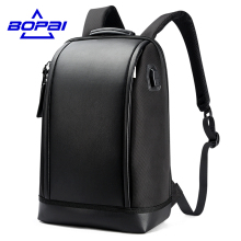 BOPAI 2017 New Designed Summer Backpack Men Unique Stylish Laptop Backpack Business Men Travel USB Backpack Fashion School Bags(China)