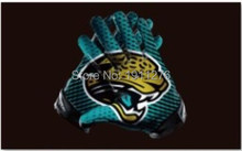 90x150 Jacksonville Jaguars USA Football Flag Jacksonville Jaguars NFL flag 120g quality polyester 100D 3x5ft free shipping(China)