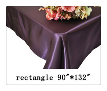 "Free shipping rectangle tablecloth size 90""*132"" color  eggplant  for wedding decoration /rectangle table cloths for weddings"