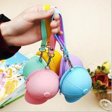 New Quality Cool Baseball Cap Shape Silicone Coin Purse Mini Coin Wallets Change Purse Bag 11*8.2*7.5 cm Dropshipping(China)