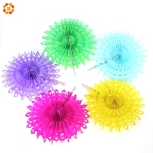 10PCS/Lot 8''(20CM) Hollow Snowflake Tissue Paper Fans Pinweels Hanging For Home Kids Birthday And Wedding Party Decoration