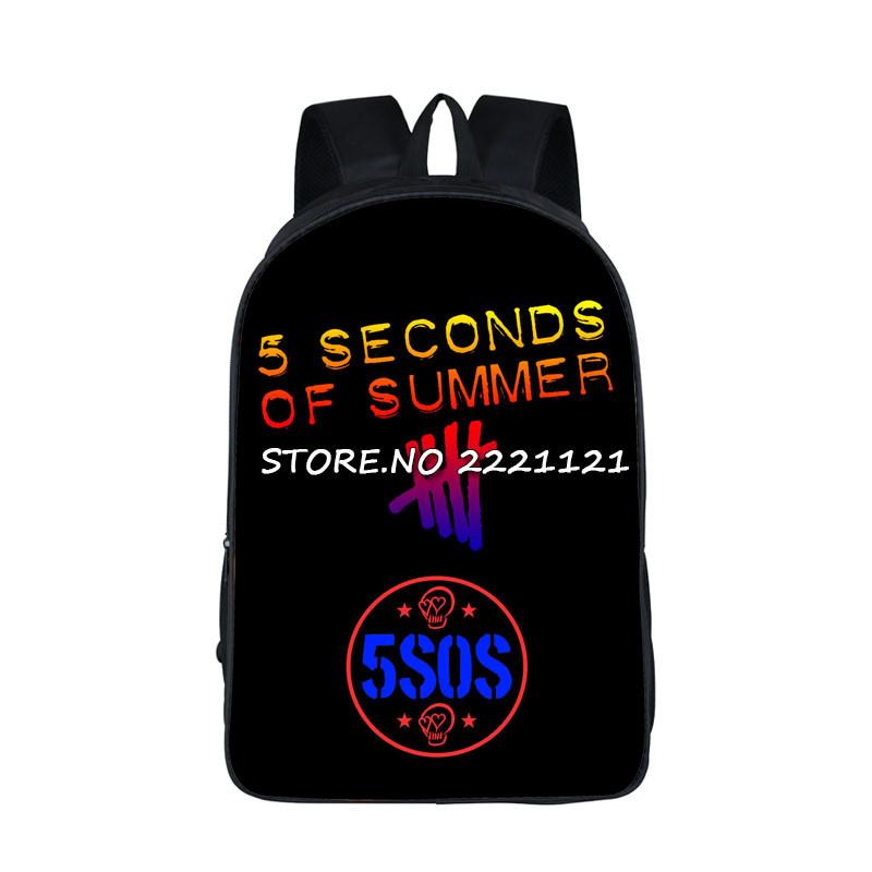 5 Second Of Summer Backpack For Teenage Girls Boys You Complete Mess Me School Bag 5SOS Luke Hemmings BookBag Ashton Irwin Bags<br><br>Aliexpress