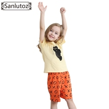 Girls Children Clothing Set Cotton Kids Clothes Summer Brand Sport Suits for Girls Toddler Baby (Tshirts + Shorts) 2016