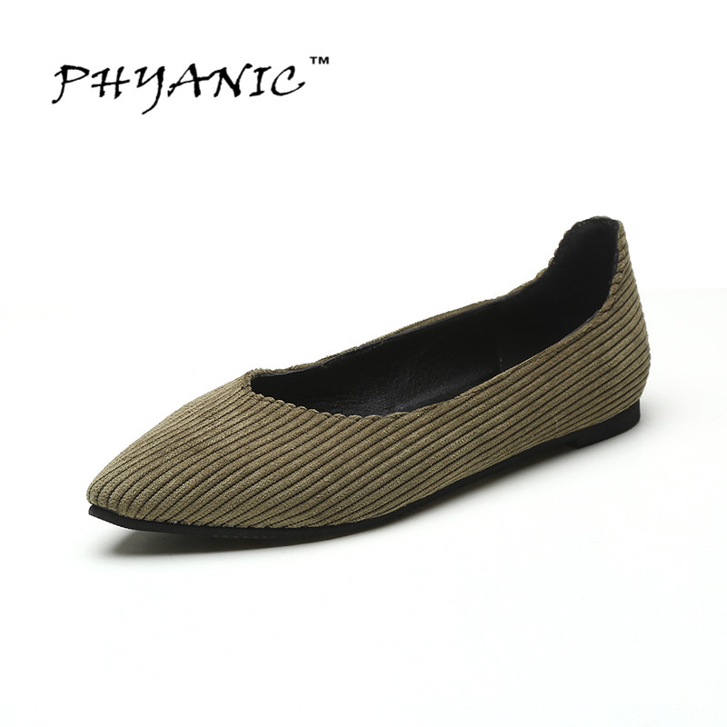 PHYANIC New 2017 Sring Casual Shoes Women Flats Pointed Toe Womens Shoes Moccasins Ballet Flats Flat Shoes Ballerina Loafers<br><br>Aliexpress