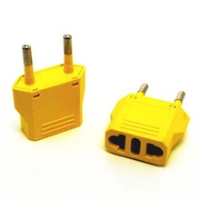 10pcs/lot Brand US AU to EU AC Power Plug Travel Charger Converter Adapter yellow selling Travel Home Use plug Adaptor Adapter