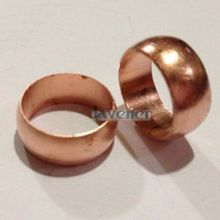 LOT 5 Copper Compression Sleeves Compression Fitting Sleeve Ferrule Ring for 15mm O/D Tube(China)