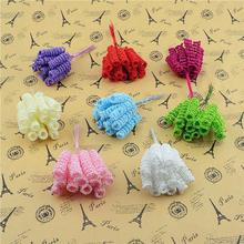 New 24pcs/lot 4cm Foam Flower Bouquet Artificial Flowers DIY craft flower Free shipping