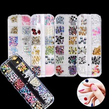 Buy Mixed Jewelry Rhinestones Manicure Glitter Sequin Stickers Beads Charm Alloy Rivet Diamond Gems DIY Gel Nail Polish Art Tool for $1.32 in AliExpress store