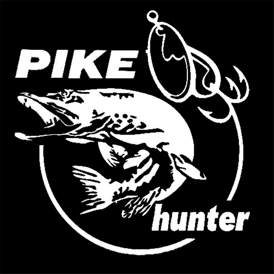 Cunymagos 13.3cm14cm Pike Hunter Fish Animal Car Sticker Vinyl Decal Decor (7)