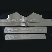 Stainless steel Interior Door sill Scuff Plate car accessories For BMW X3 F25 2011 2012 2013 2014