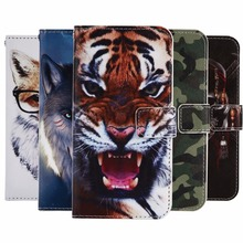 "GUCOON Cartoon Wallet Case for Philips Xenium V377 5.0"" Fashion PU Leather Lovely Cool Cover Cellphone Bag Shield"