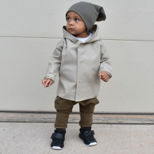 Kids Baby Boy Toddler Wind Outwear Coat Autumn Winter Jacket Clothes Age 0-24M pudcoco Baby kids  boy Back letter outwear(China)