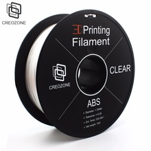 CREOZONE ABS Plastic Filament 3D Printer Filament 1.75 1KG Spool Diameter Tolerances +/- 0.05mm 3D Printer Supplies for RepRap(China)