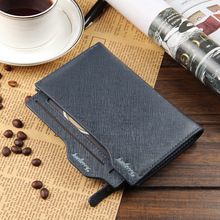Baellerry Purse Business Men Wallet Black Medium Long Leather Wallets Purses Fashion Solid Thin Wallet For Men Free Shipping
