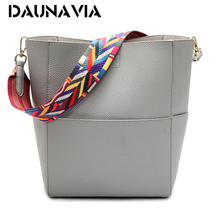 DAUNAVIA Luxury Handbags Women Bags Designer Brand Famous Shoulder Bag Female Vintage Satchel Bag Pu  Crossbody Shoulder Bags