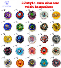 27 style can choose 1pcs Beyblade Metal Fusion 4D System Battle Top Metal Fury Masters with Launcher BB105 BB119 BB120 BB122(China)