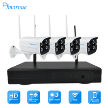 Amorvue 4CH 1080P Wifi Camera Systerm Wifi Security Camera Waterproof Bullet IP Camera CCTV System Surveillance Kits NVR Kit(China)