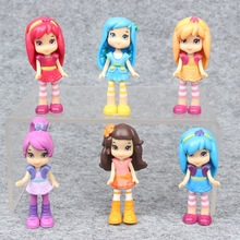 Wholesale Cheap Chinat Toys High Quality Plastic 6 pcs/Set Princess Anime Action Figures Mini Model Dolls Juguetes 2017 4324