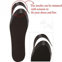 Unisex Black Scalable Insoles Bamboo Charcoal Deodorant Cushion Foot Inserts Shoe Pads Insoles Adjustable Size 24-27cm *35