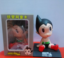 12cm shaking head Astro Boy toy Model Car decoration Anime Dolls Action figures PVC classic toys Free shipping KB0554