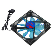 New Cool & Quiet 15 Blue/Green LED Desktop Pc Computer Case Cooling Fan Wholesale And Newest 2016(China)