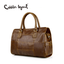 Cobbler Legend New Arrival Genuine Leather Women's Handbags Ladies Brown Cowhide Tote Bag Satchel Briefcase Women Messenger Bags(China)