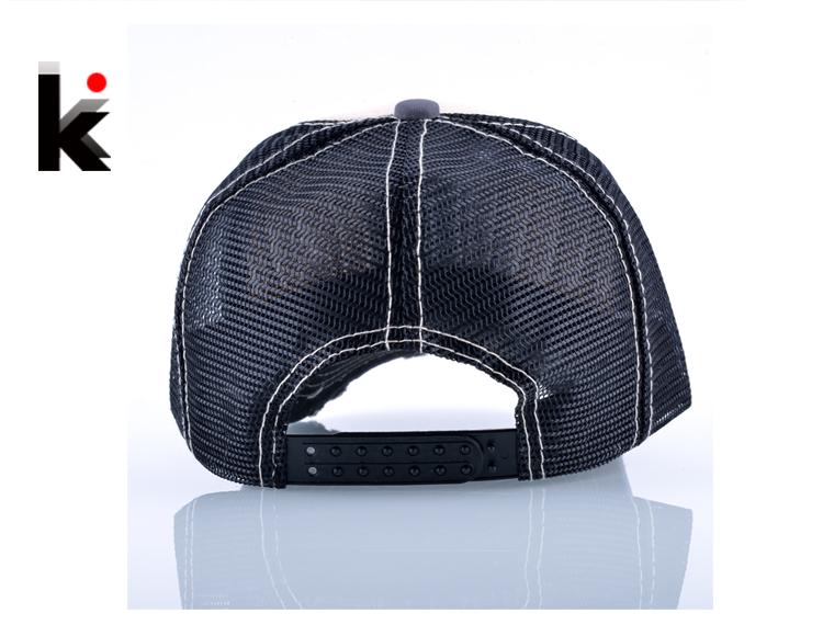 Fashion Unisex Patch Bones Wolf Embroidery Hip Hop Hats Breathable Mesh Baseball Caps Men Women Casquette Summer Trucker Gorras 2