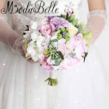Modabelle Western Style Bridesmaid Flower Bouquet Outside Wedding Flowers Bridal Bouquets Artificial Wedding Bouquet Brooch 2017